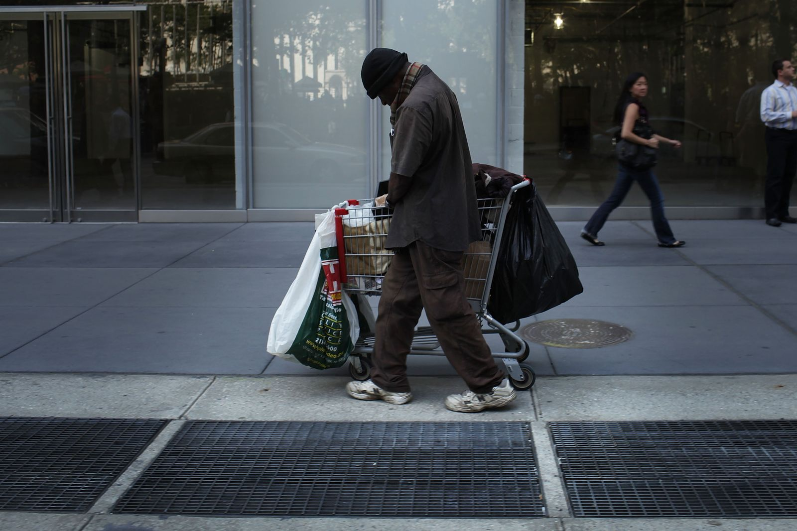 USA / New York / Armut / Poor Door / Arm / Obdachlos