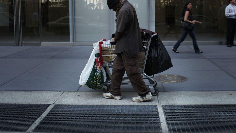 Obdachloser in New York
