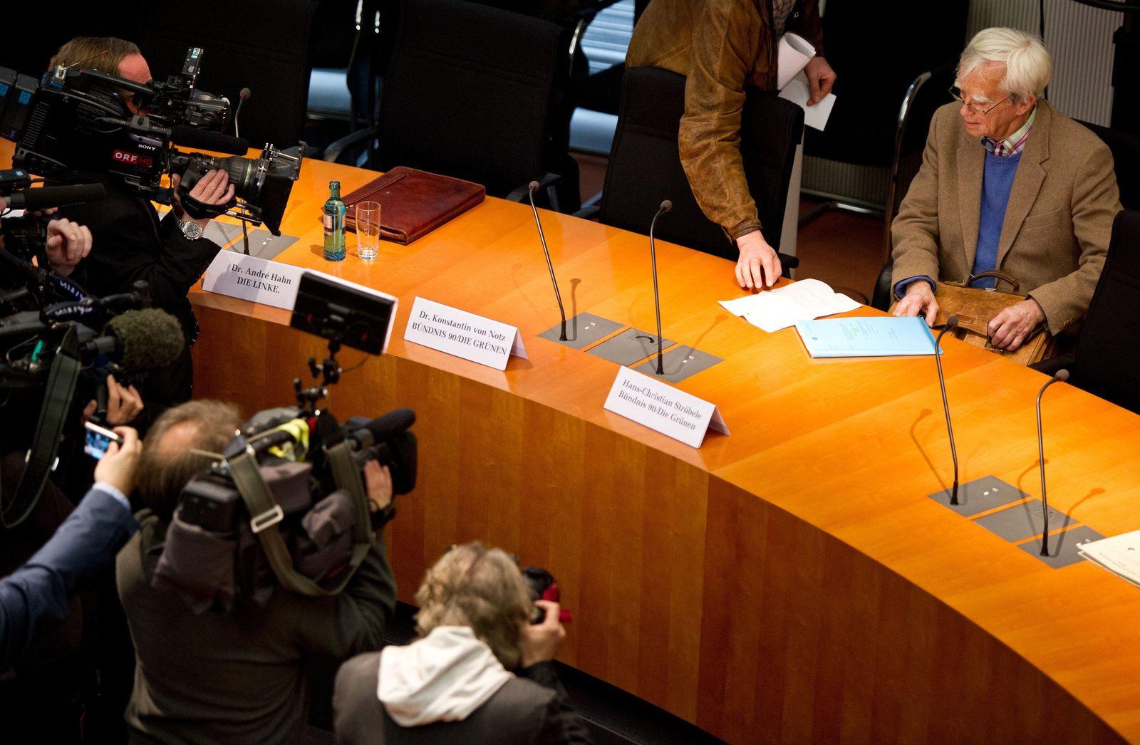 NSA-Untersuchungsausschuss/ Ströbele