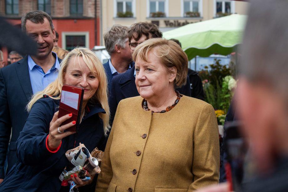 Bundeskanzlerin Merkel in Greifswald