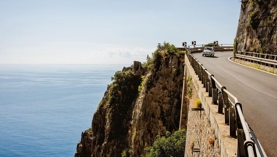Mit dem Cinquecento die Amalfiküste entlang