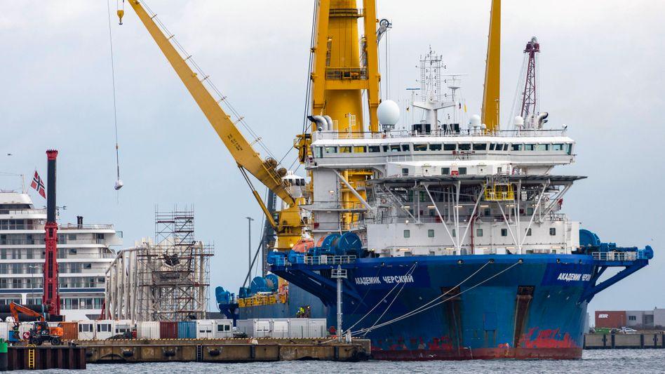 Das russische Pipeline-Verlegeschiff für Nord Stream 2