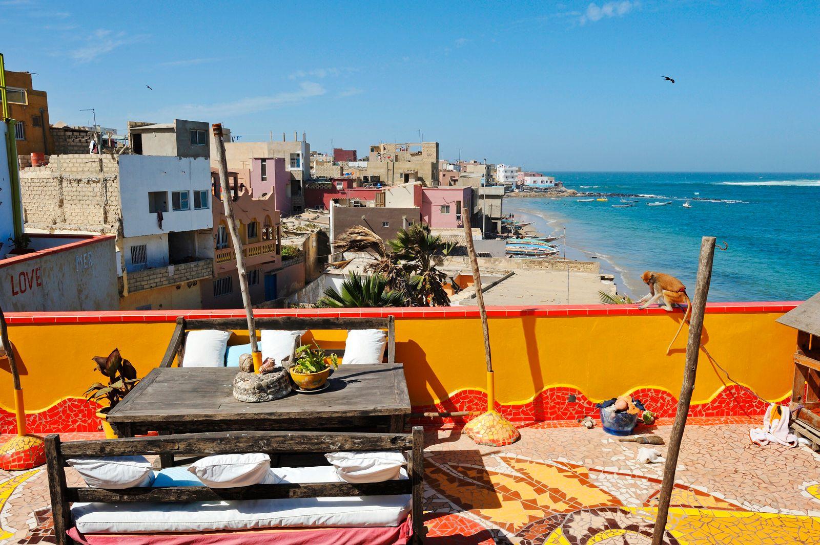 Abaka guesthouse, Ngor, Dakar, Senegal, West Africa. (Christian Goupi)