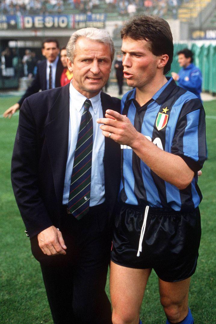 """Inter-Trainer Trapattoni, Spieler Matthäus (1990): """"Hau ihn nach vorn"""""""
