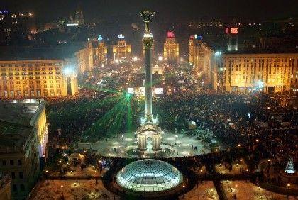 Kiew: Am sechsten Tag in Folge demonstrieren zehntausende Ukrainer gegen die Präsidentschaftswahl