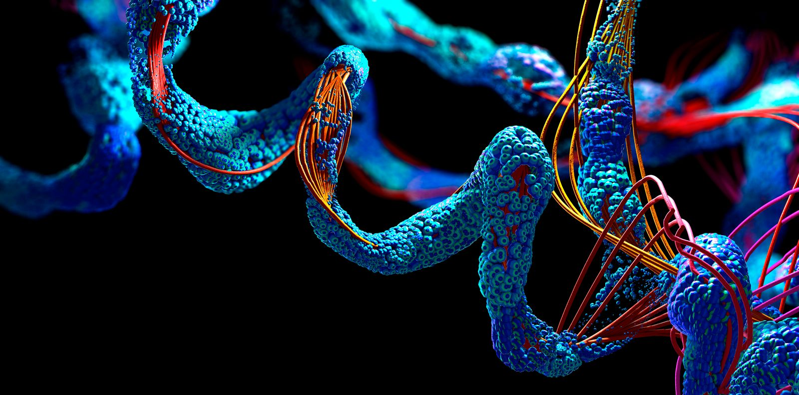 Protein, illustration Protein, 3d illustration. *** Protein, illustration Protein, 3d illustration PUBLICATIONxINxGERxSU