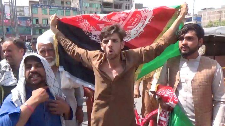 An anti-Taliban protest in Jalalabad last week
