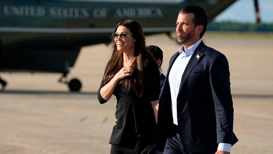 Donald Trump Jr. mit seiner Freundin Kimberly Guilfoyle Ende Mai bei der Ankunft auf der Andrews Air Force Base im US-Bundesstaat Maryland