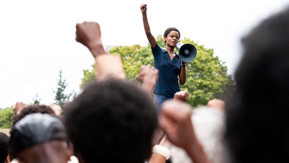 Letitia Wright als Black-Panther-Aktivistin in der Episode »Mangrove«