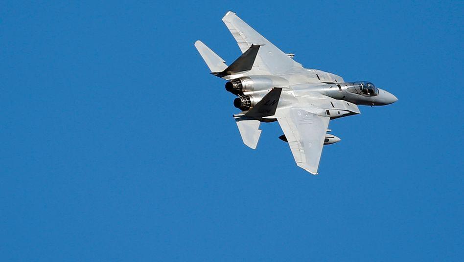 US F15C Eagle Jet über der Ostsee (Symbolbild)