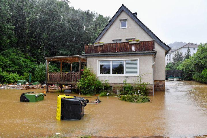 In Teilen Deutschland sind neue Regenfälle gemeldet