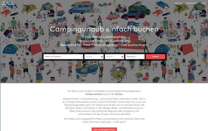 Startseite von Getacamp.com
