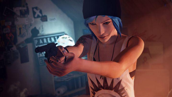 Chloe mit Pistole: Die Welt ist gefährlich