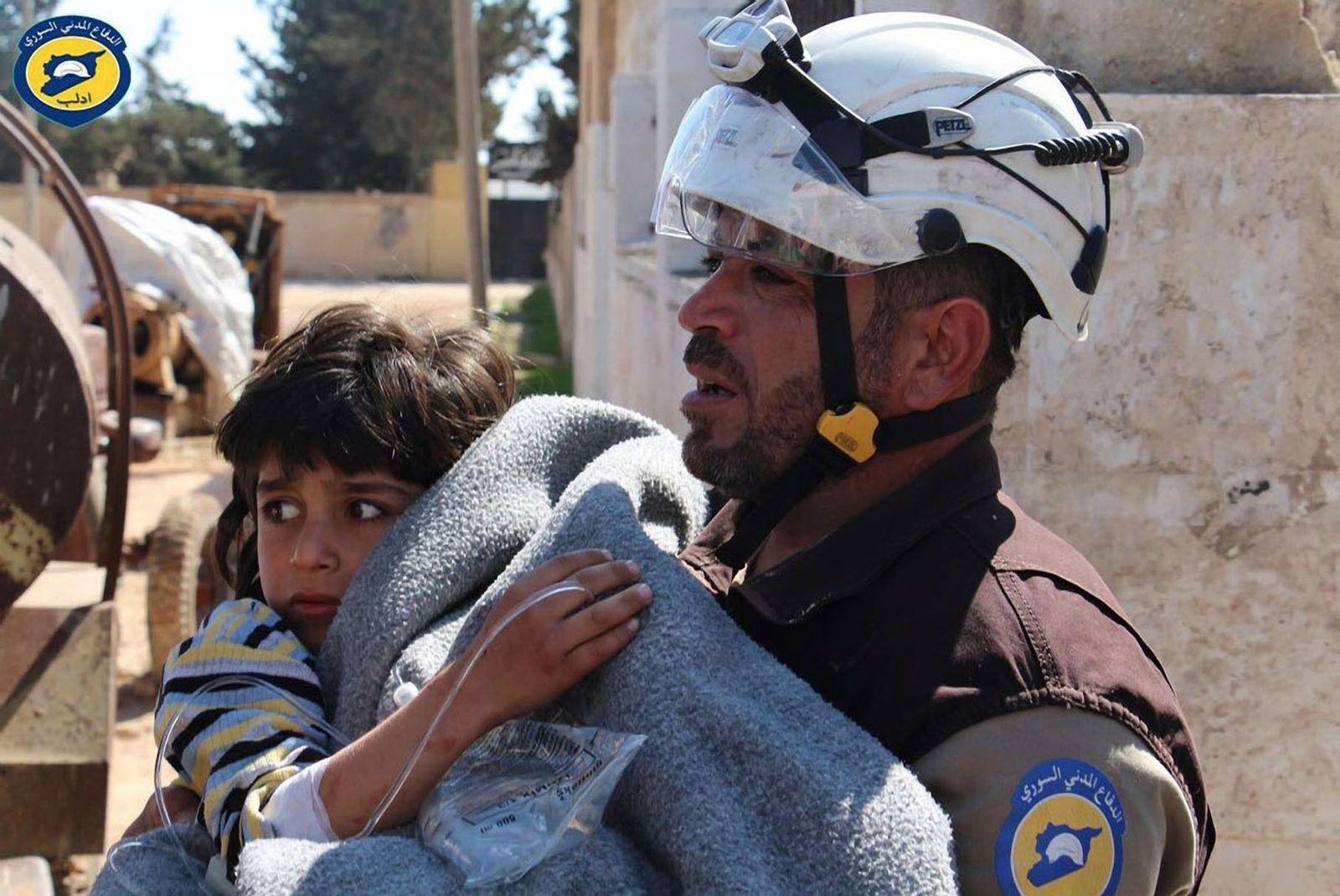 EINMALIGE VERWENDUNG Mutmaßlicher Giftgasangriff in Syrien