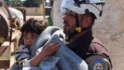 Syrische Weißhelme in Deutschland gelandet