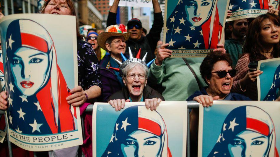 Proteste gegen das Einreiseverbot in New York City