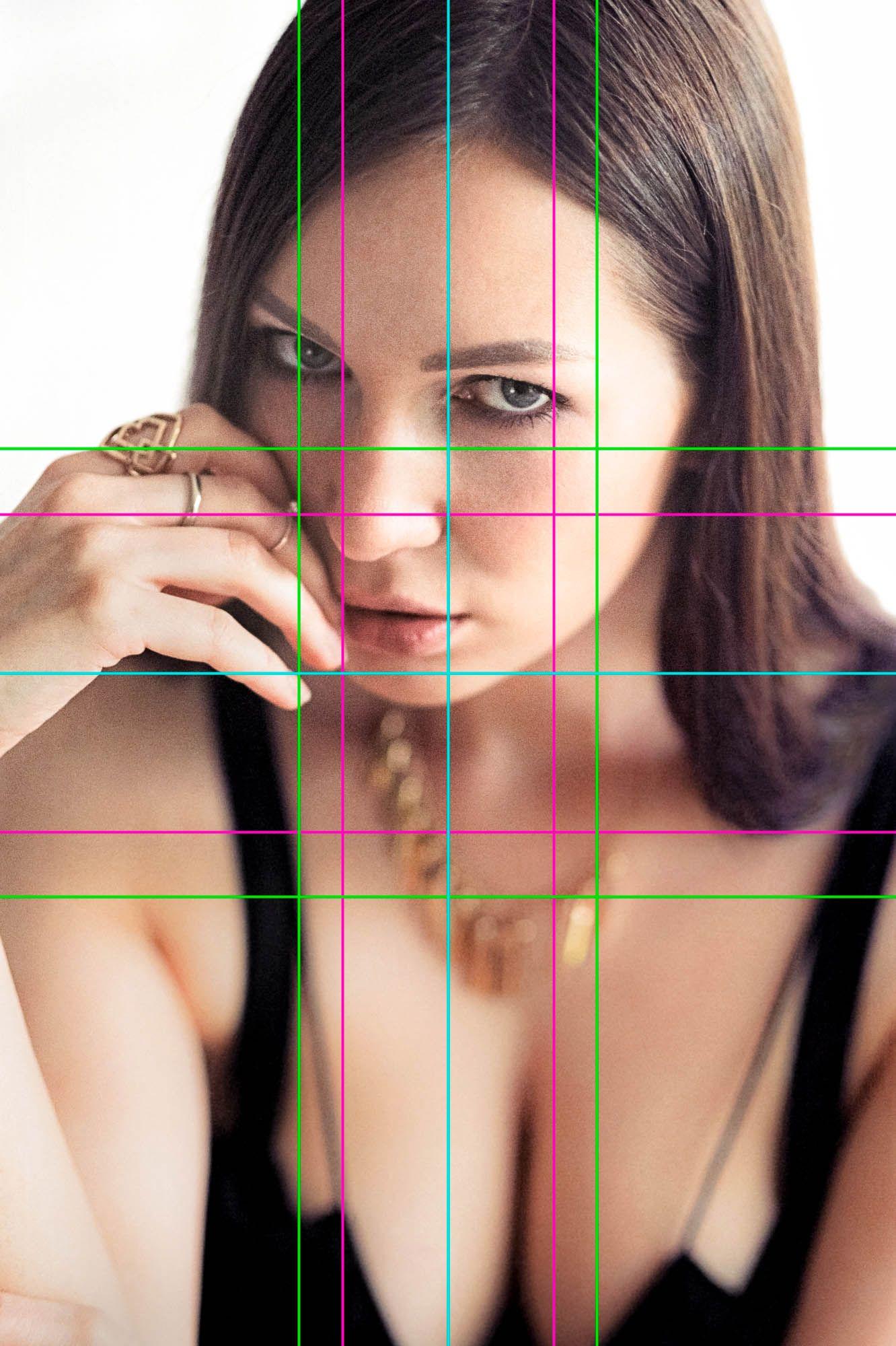 EINMALIGE VERWENDUNG Fokussiert/ Frauenportrait extrem