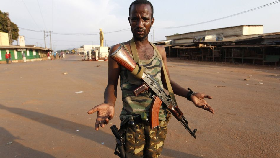 A Seleka fighter in the Central African Republic. A French intervention aims to quell the violence in the troubled country.