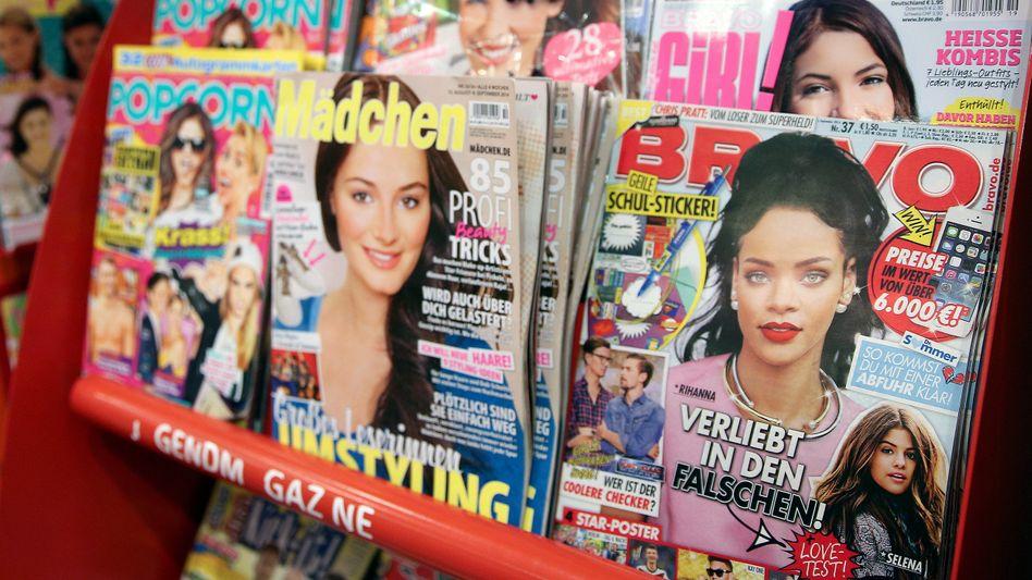"""""""Bravo"""" am Kiosk (Archivbild): Das Magazin setzt auf die Popularität von YouTube-Stars"""