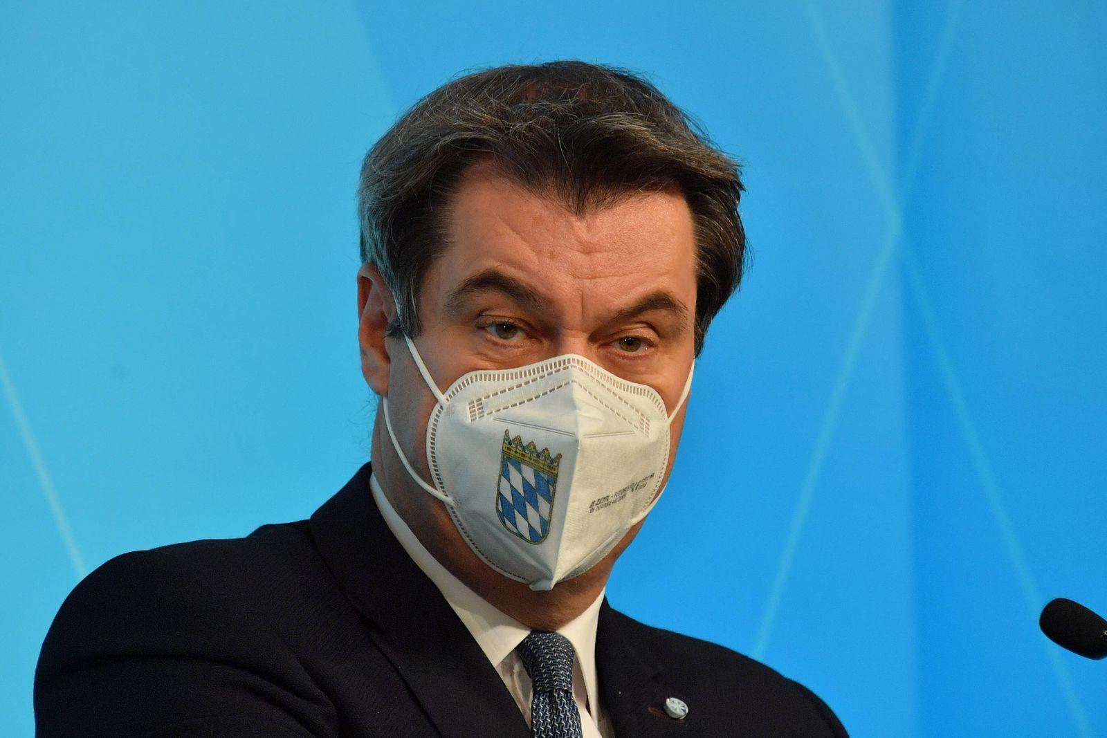 Dr. Markus Söder (Bayerischer Ministerpräsident) / PK der Bayerischen Staatsregierung / Corona-Pandemie / Prinz-Carl-Pal