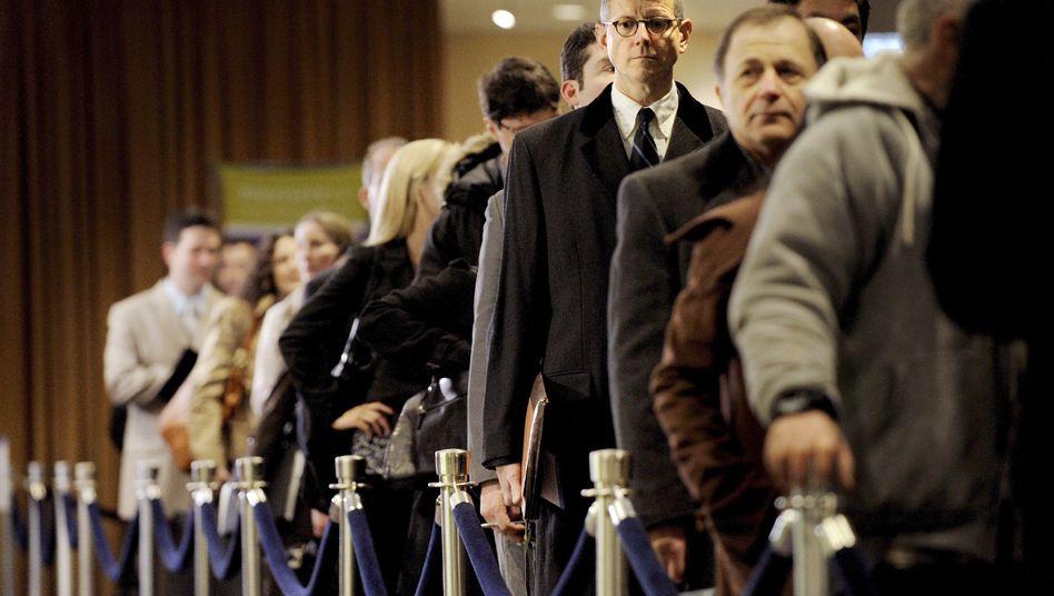 Arbeitssuchende in New York: USA besonders betroffen