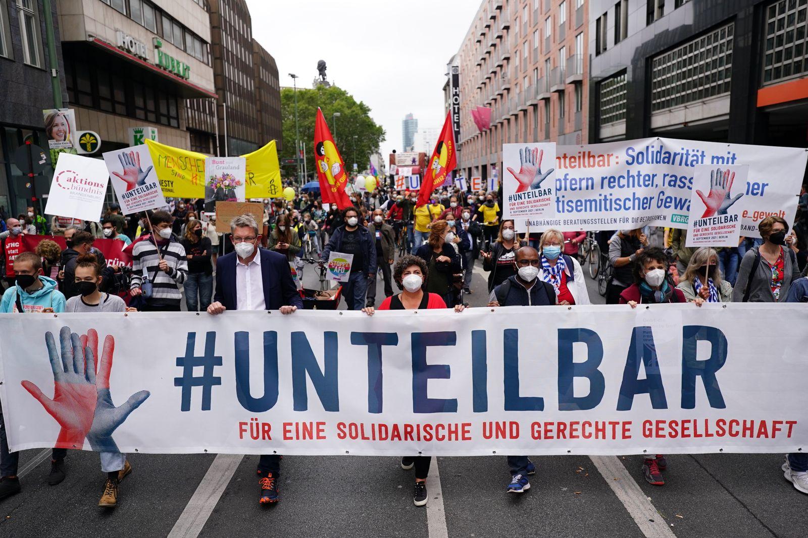 'Unteilbar' demonstration in Berlin