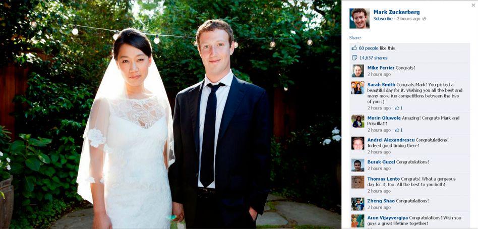 Facebook-Chef Zuckerberg heiratet: Der Milliardär und die Medizinerin