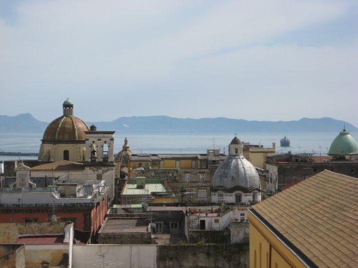 Schöne Aussicht: Der Blick aus Merles Zimmer in Neapel