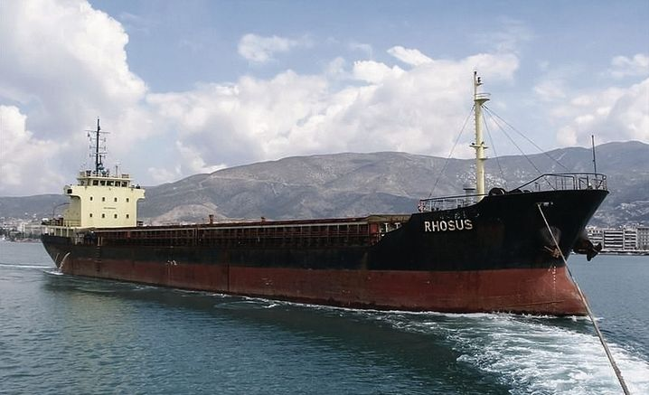 The freighter Rhosus in 2013: The extremely dangerous cargo it brought to Beirut ultimately caused the deadly explosion in the city.