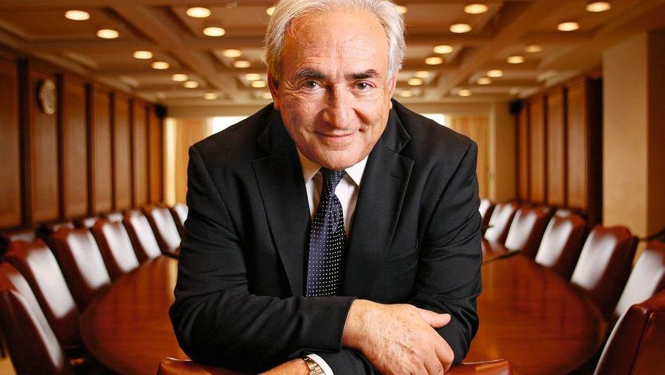 IWF-Direktor Strauss-Kahn in Washington: »Das Geld ist die Medizin, aber der Patient muss sein Leben ändern«