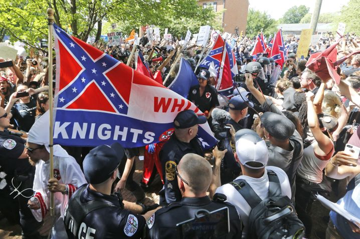 Ku-Klux-Klan-Demonstration in Charlottesville im Juli