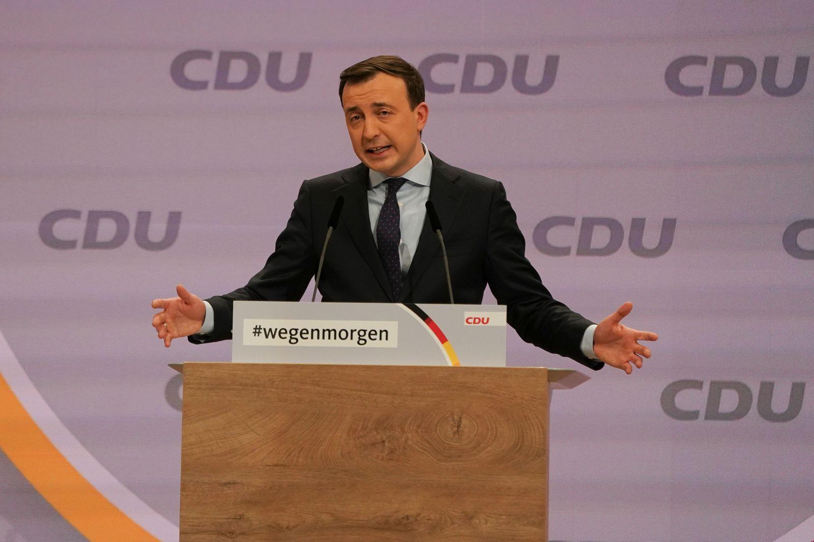 German conservative CDU party virtual party congress, Berlin, Germany - 15 Jan 2021