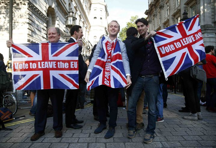 Anti-EU-Wähler in Großbritannien