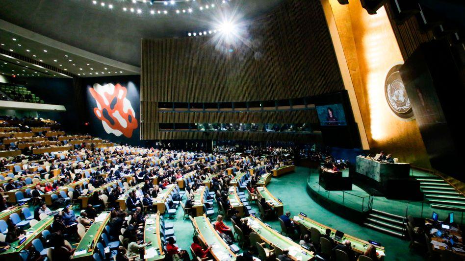 Sitzungssaal der Vereinten Nationen in New York