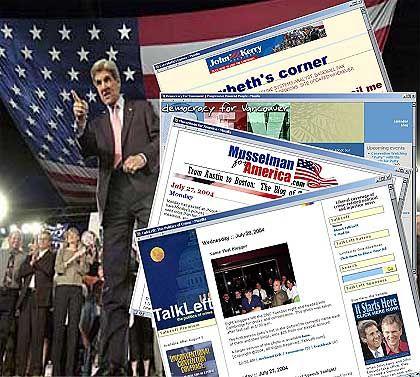 """Blogs rund um den Wahlkampf der """"Democrats"""": Wo endet Berichterstattung, wo beginnt Wahlwerbung?"""