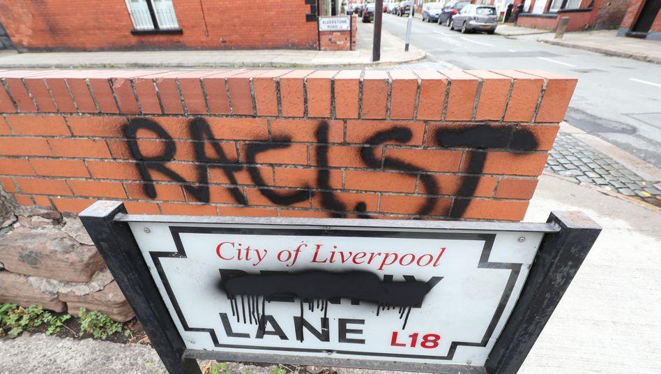 Schmierereien in Liverpools Penny Lane
