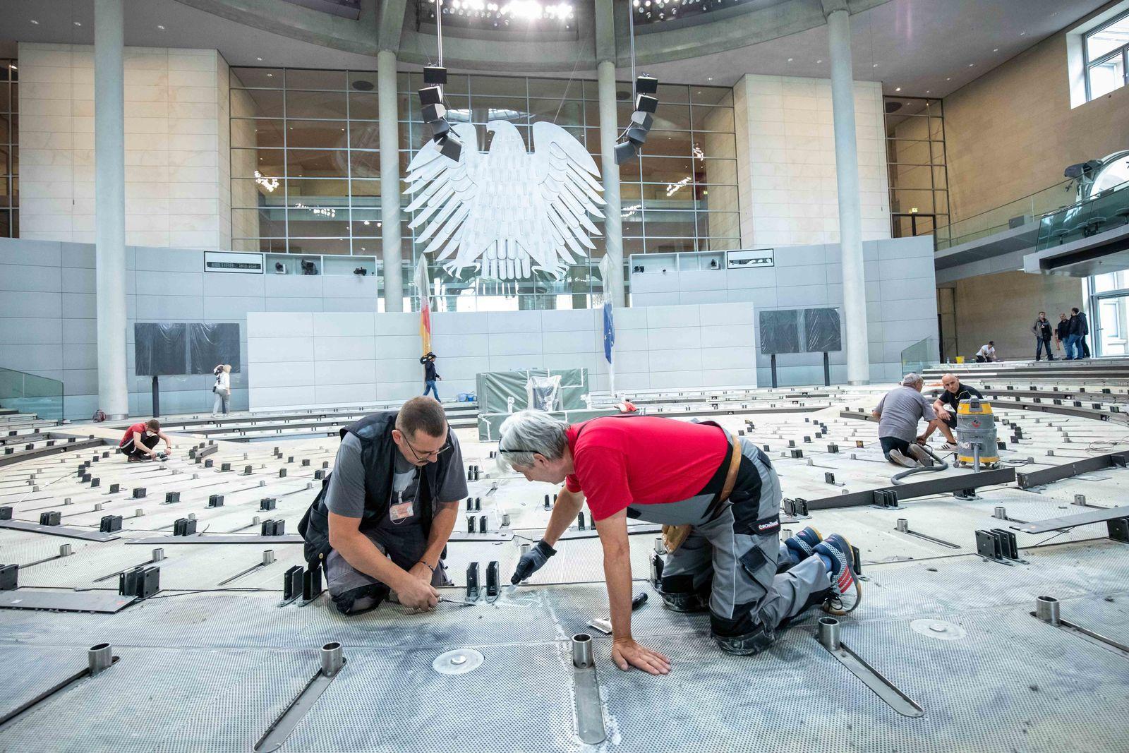 Renovierung des Bundestages