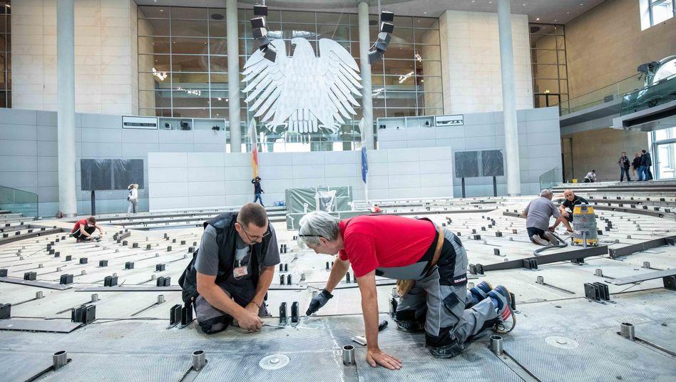 Renovierung im Bundestag in der Sommerpause: In Zukunft mehr als 800 Abgeordnete?