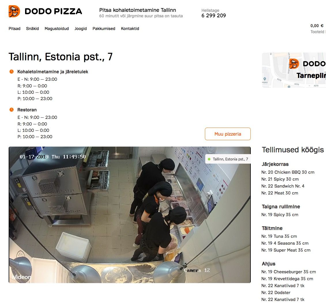 EINMALIGE VERWENDUNG dodopizza.ee/tallinn/estonia/contacts