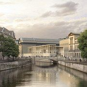 British architect David Chipperfield's design for the James Simon Gallery at the Museum Island in Berlin.