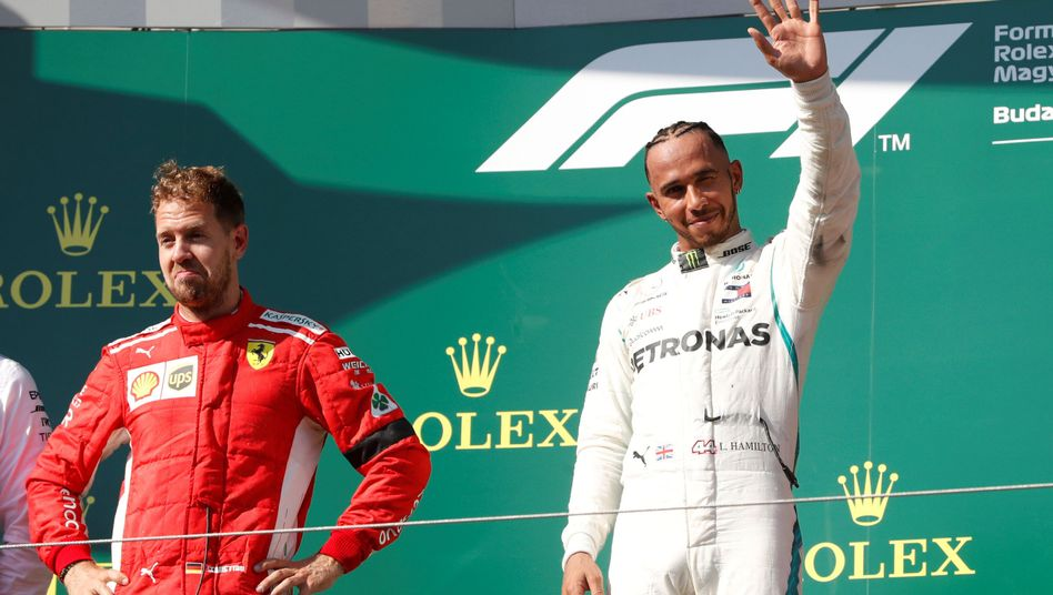 Lewis Hamilton (r.), Sebastian Vettel