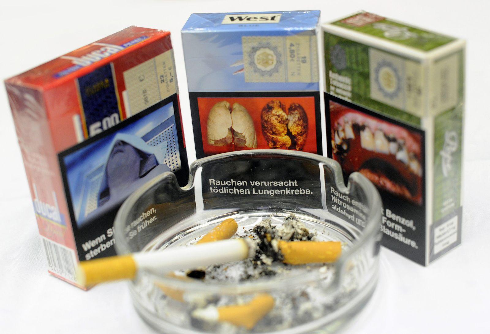 Zigarettenpackungen/ Schockbilder