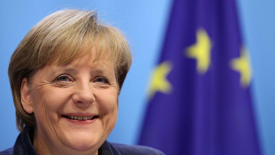 Bundeskanzlerin Angela Merkel: Erleichterung nach der Einigung