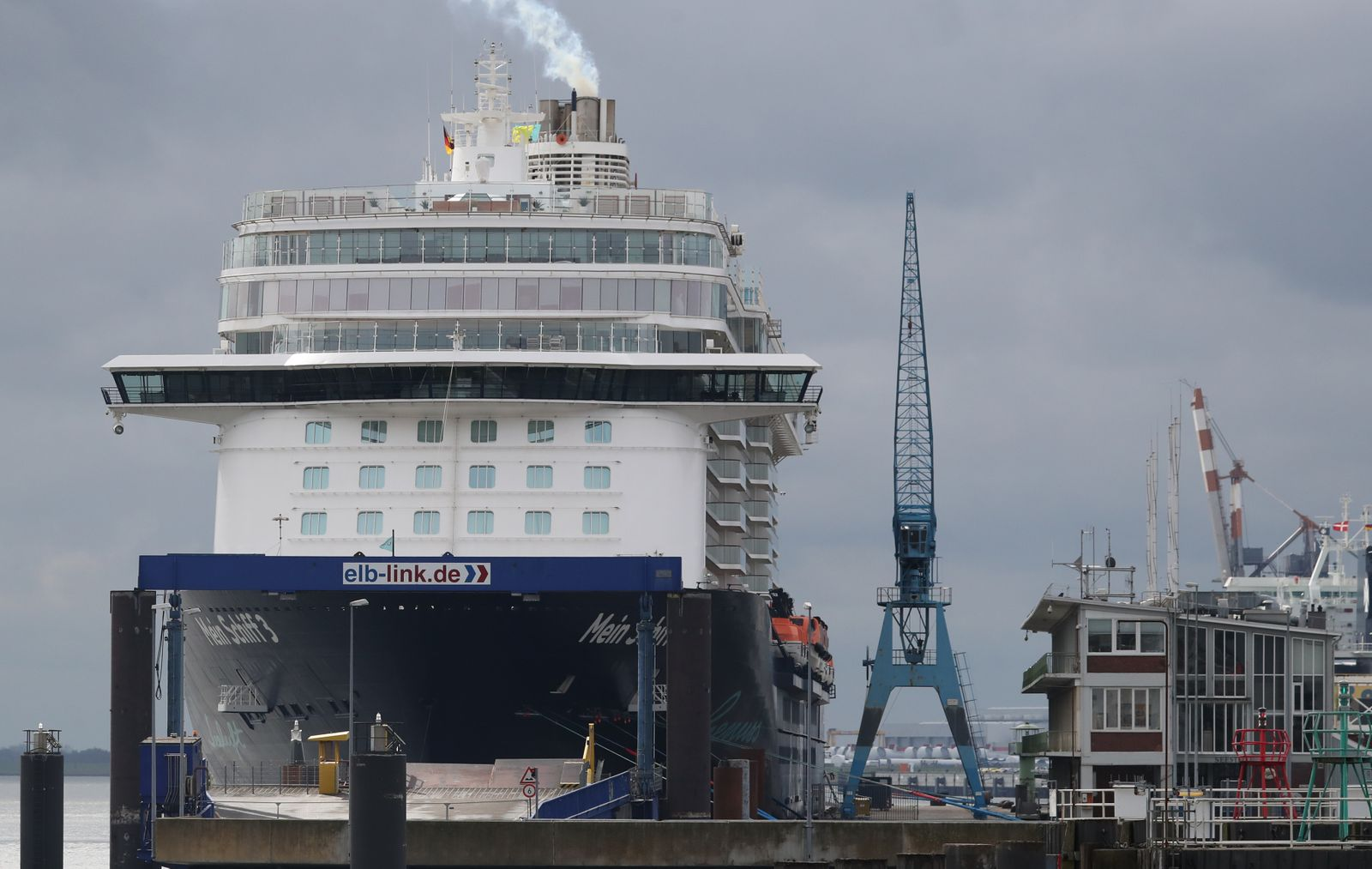 Cruise ship under quarantine in Cuxhaven, Germany - 02 May 2020