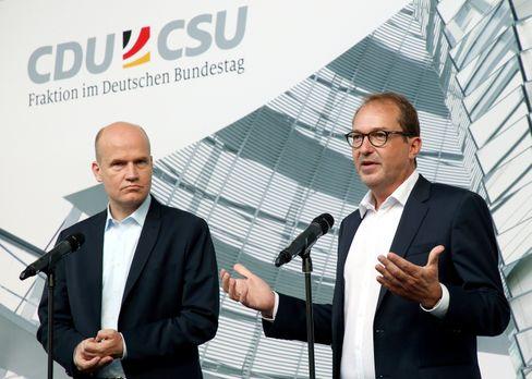 Ralph Brinkhaus (l.) und Alexander Dobrindt