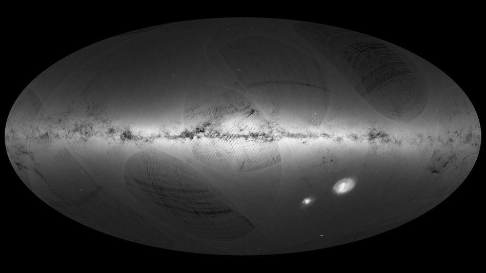 """Zusammengesetztes """"Gaia""""-Foto der Milchstraße"""