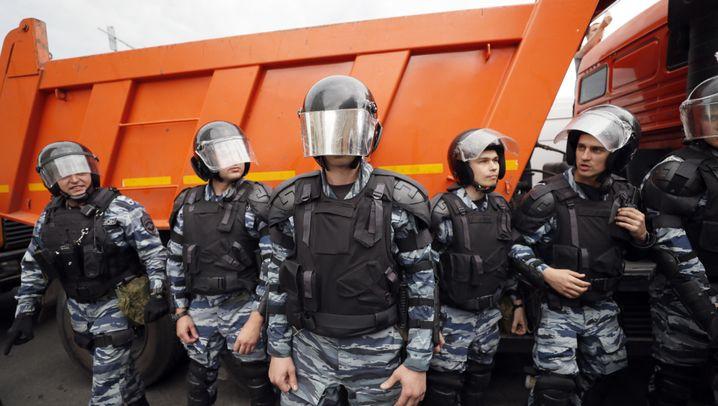 Russland: Zahlreiche Festnahmen in Moskau