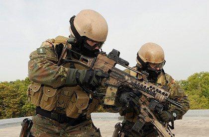 Elite KSK soldiers training in Hammelburg, Germany.