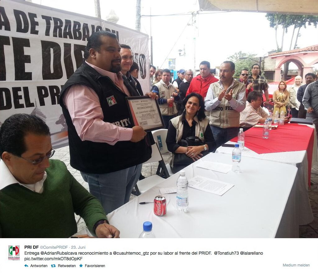 NUR ALS ZITAT Screenshot/ Mexikanischer Politiker Gutierrez de la Torre