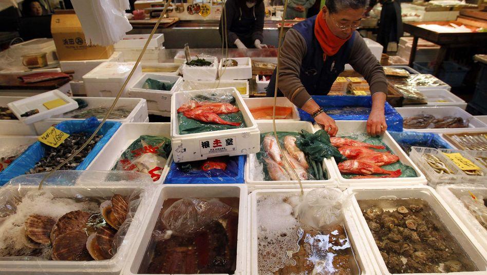 Fischhändler in Tokio: Achtung bei der Endziffer 61